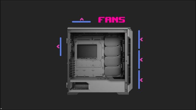 Fan configuration Phanteks P600s